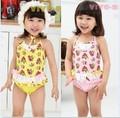 Ccsme DHL 5 unids/lote Kid con estilo Baby Girls Ruflle cereza lace Bikini traje de baño ropa de playa Bathsuit 3 - 7 T nueva