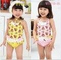 Ems DHL frete grátis 5 pçs/lote Kid à moda do bebê meninas Ruflle cereja lace Bikini Swimsuit Bathsuit beachwear 3 - 7 T nova