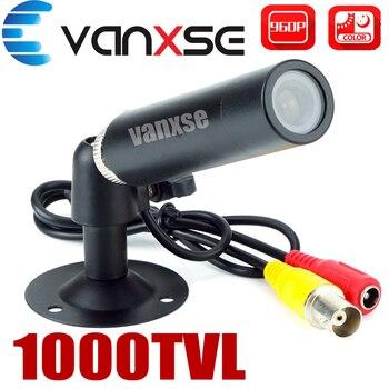 Vanxse CCTV 1/3 Sony CCD 1000TVL 3,6mm HD Mini cámara de seguridad de vigilancia con soporte