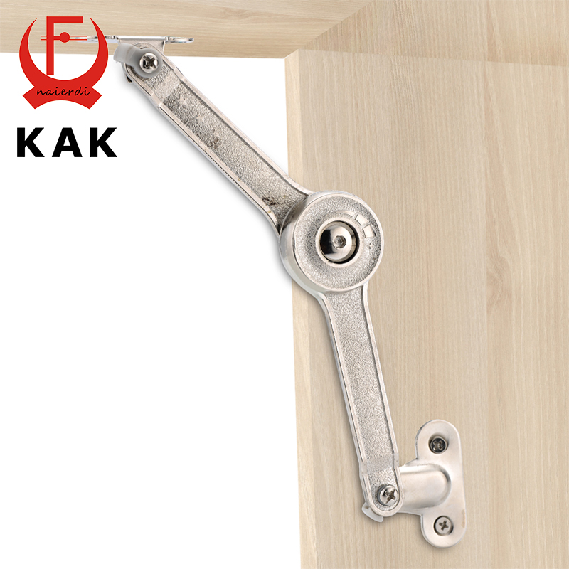 KAK Randomly Stop Adjustable Hinge Cabinet Cupboard Door Furniture Lift Up Strut Lid Flap Stay Support Hydraulic Hinges Hardware 2pcs 90 degree concealed hinges cabinet cupboard furniture hinges bridge shaped door hinge with screws diy hardware tools mayitr