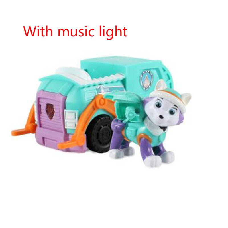 9 Style Paw Patrol Deformation Scooter Music Light Anime Patrol Figurine Toy Car Patrulla Canina Toys For Children D16