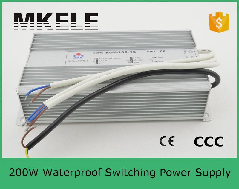 ФОТО 15v customized CE waterproof LED FS-200-15 200w 13.3A Single Output Switching power supply for LED Strip light AC to DC