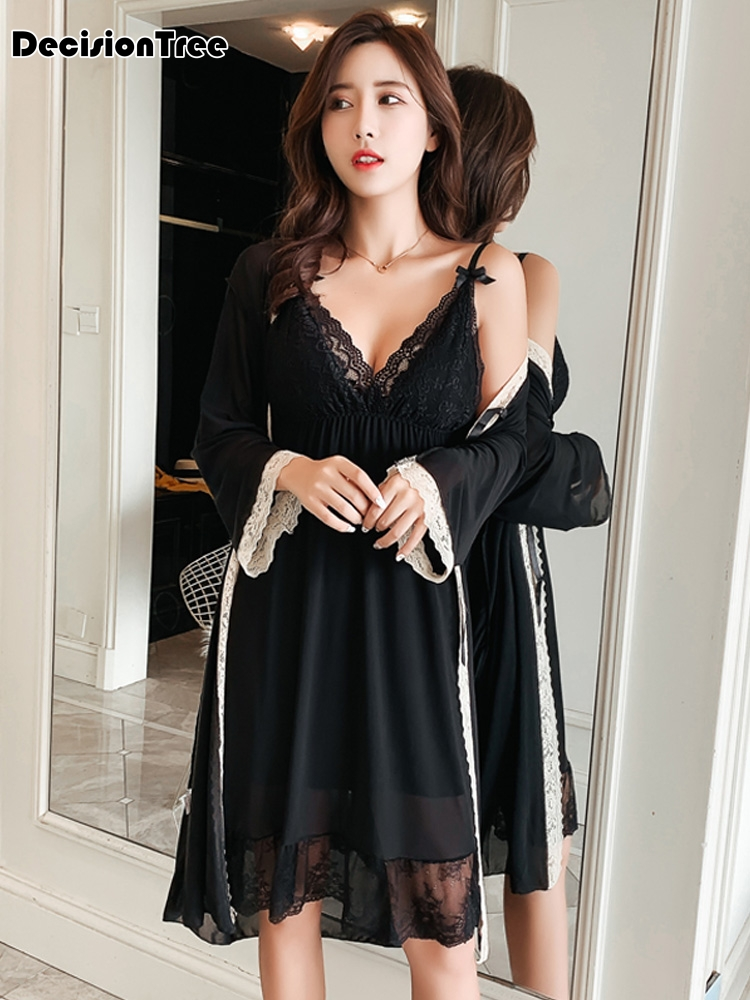 2019 summer women nightgowns lace satin sleepwear nightdress home wear sexy backless sleep lounge night dress silk nightwear