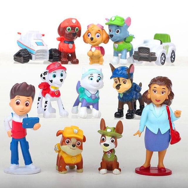 Brinquedos do cão pata patrulha Ryder Everest 12/1 set Rastreador Promover Deslizante Select Action Figure modelo de brinquedo Crianças Presentes Patrulha canina