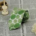 Novos homens do noivo festa de casamento gravata largura de 3.4 polegada 100% de seda do laço verde oliva FS49