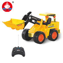 RC Truck Bulldozer 7CH Engineer Vehicle Remote Control Simulation Engineering Truck Construction Model Toys Christmas Gift