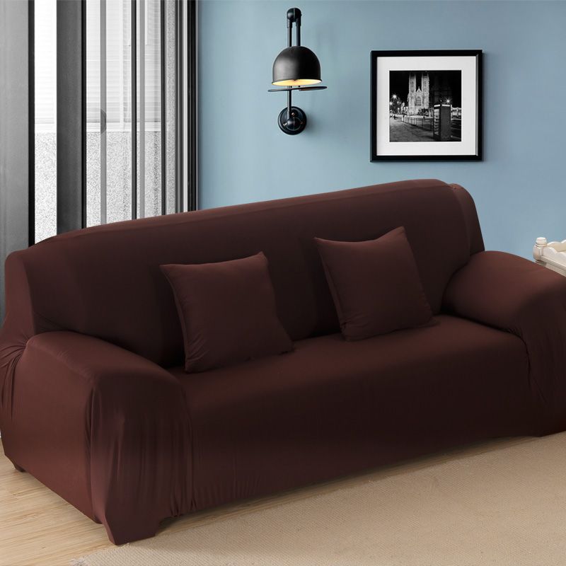 Soild Color Tight All-inclusive Sofa Cover Stretch Pohovka Slipcover - Bytový textil