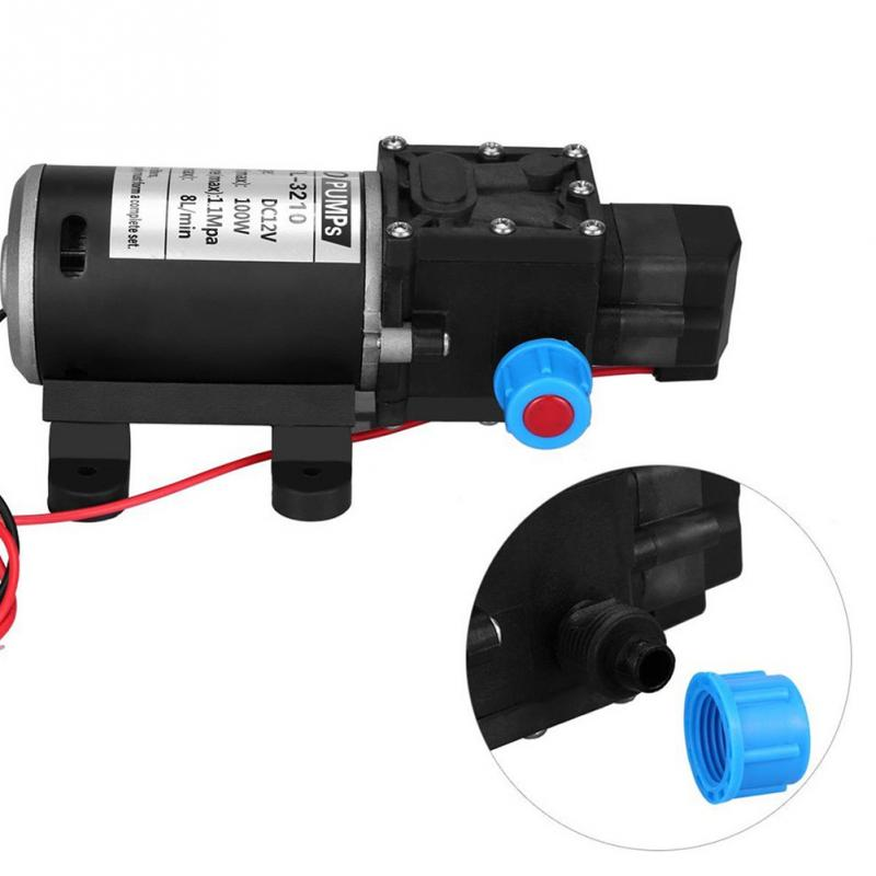 100W 12V Car Washing Water Pump High Pressure 8 Lpm Self-Priming Booster Pump For Caravan Camping Boat Accessories 100w 220v shower booster water pump