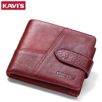 KAVIS Luxury Brand Genuine Leather Women Wallet Coin Purse Female Small Walet Portomonee Lady Mini Magic