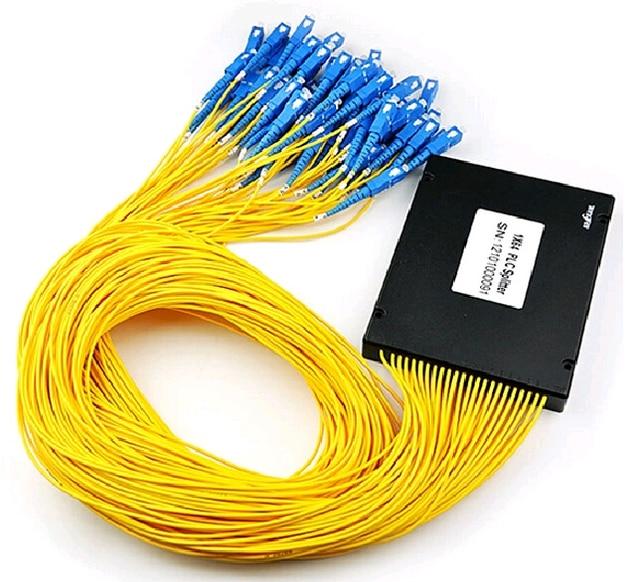 SC 1X64 PLC Singlemode Fiber Optical splitter FTTH PLC ABS type FBT PLC optical fiber splitter sc connector Free shipping