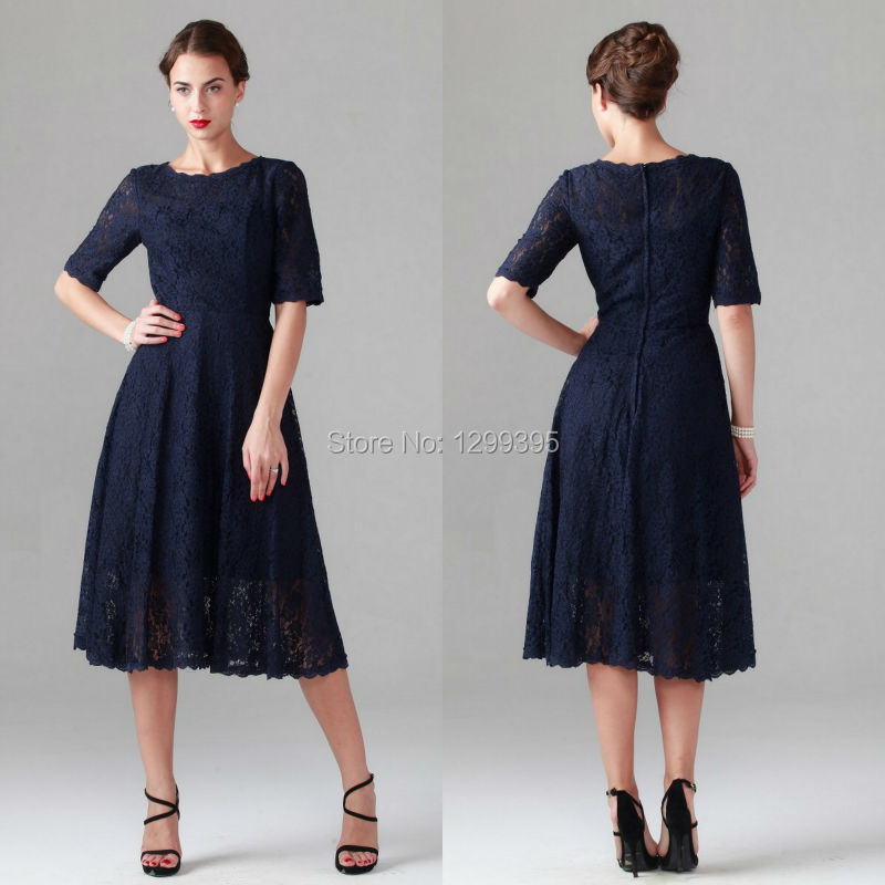 Popular Lace Blue Dress Mid Buy Cheap Lace Blue Dress Mid Lots From