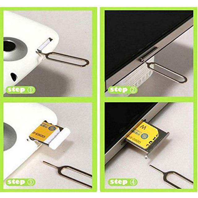 10PCS Sim Card Remover Tray Open Sim Card Eject Tool Sim Pin Key For iPhone XS Max XR X 8 Plus Xiaomi mi 9 Samsung S10 Plus S10+ 2