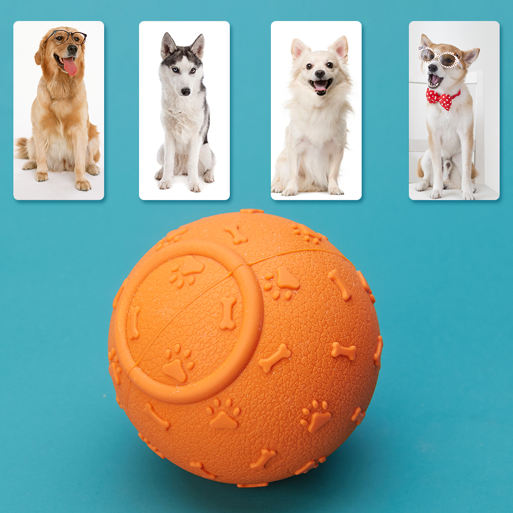 Pet Supply Tooth Cleaning Funny Teeth Rubber Dog Ball Toy Chew Toys For Small Large Dog in Dog Toys from Home Garden