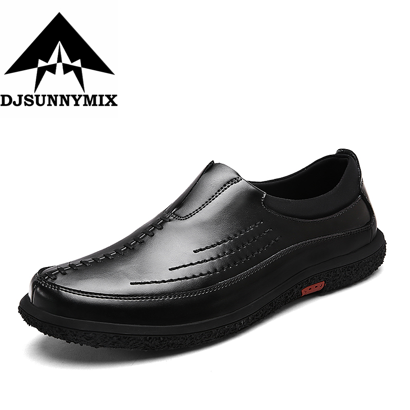 DJSUNNYMIX Brand 2017 men genuine leather shoes handmade comfortable Non-slip driving men flats shoes new style comfortable casual shoes men genuine leather shoes non slip flats handmade oxfords soft loafers luxury brand moccasins