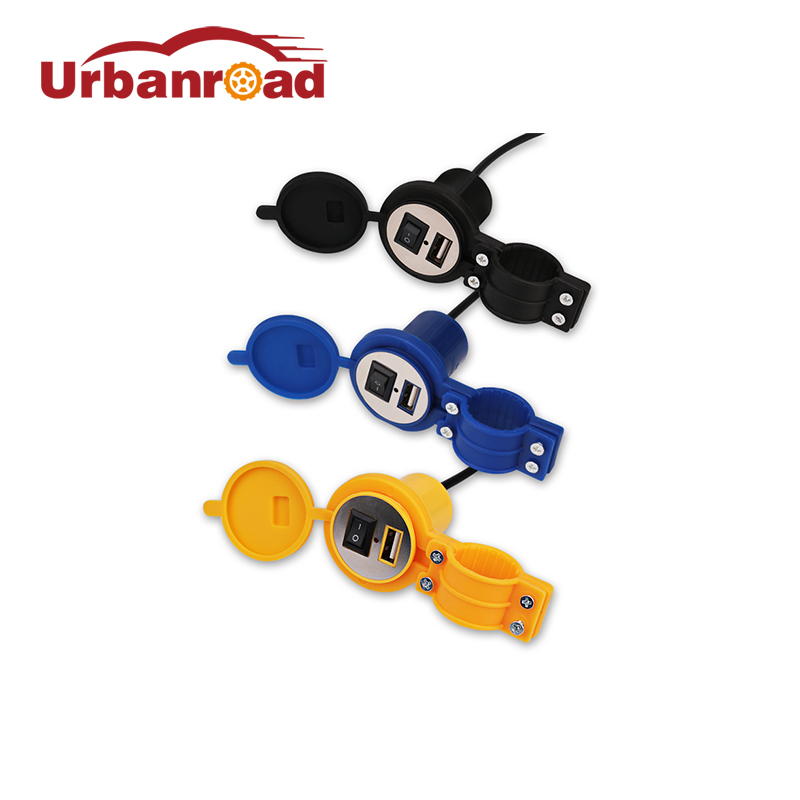 Motor Motorfiets USB Oplader Power 12 v Waterdichte Motor Motor USB Oplader Sigarettenaansteker Met Schakelaar