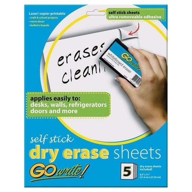 Pacon INVAS8511BN Dry Erase Sheets Self Stick kitpac101188pac103071 value kit pacon tru ray construction paper pac103071 and pacon array card stock pac101188