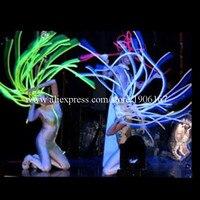 Цветные, светодиодные, светящиеся, рождественские волосы, мигающие, растущие, светящиеся, вечерние, Хэллоуин, маскарадные, светодиодные пар