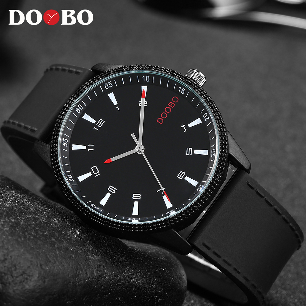 Fashion Casual DOOBO Mens Watches Top Brand Luxury 2017 Silicon Strap Clock Creative Watch Men Sport Quartz-Watch Hodinky Date mens watch top luxury brand fashion hollow clock male casual sport wristwatch men pirate skull style quartz watch reloj homber
