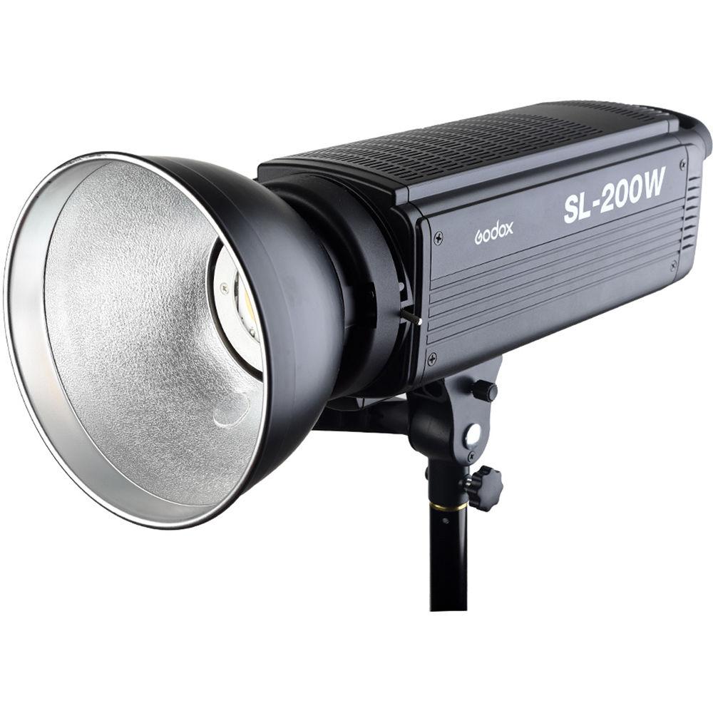 Godox SL-200W 200WS 5600 K Branco Versão LCD Painel de LED Luz de Vídeo de Saída Contínua Bowens Monte Estúdio Luz