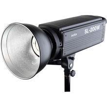 Godox sl-200w 200ws 5600 К белый вариант ЖК-дисплей Панель светодиодный видео непрерывное Выход Bowens студийный свет