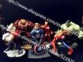 Мстители Marvel Действие Игрушки Капитан Америка/Железный Человек/Анти-Халк/Халк Мстители Игрушки Фигурки игрушки Подарки Игрушки ПВХ Действие Fi