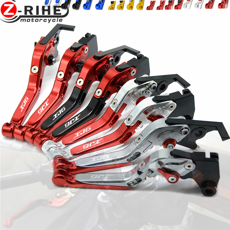 Motorcycle accessories Laser Logo XJ6 Foldable Brake Clutch Levers For YAMAHA XJ6 DIVERSION 2009 2010 2011 2012 2013 2014 2015
