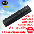 Wholesale New 6 cells laptop battery MU06 MU09 NBP6A174 NBP6A174B1 FIT  FOR HP PAVILION g4 dv7 DV6 SERIES  free shipping