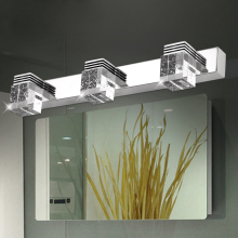 crystal  led mirror light bathroom  wall light stainless steel mirror lamp 15cm/30cm/45cm/58cm