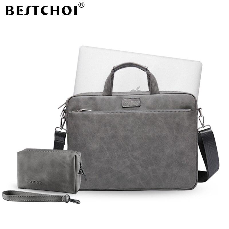 New Laptop Shoulder Bag  for macbook air 13 case 13.3 14 15.6 inch Laptop Case for macbook pro 13 case Pu Leather notebook bagNew Laptop Shoulder Bag  for macbook air 13 case 13.3 14 15.6 inch Laptop Case for macbook pro 13 case Pu Leather notebook bag