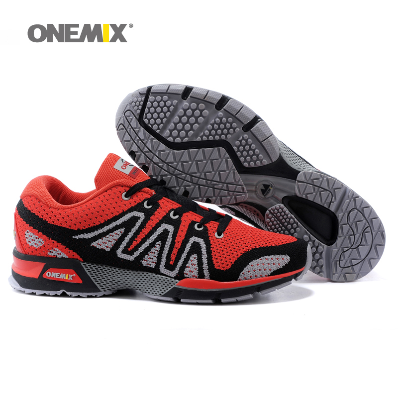 Onemix mens running shoes breathable outdoor unisex walking shoes male sport sneakers light weaving women jogging shoes kelme 2016 new children sport running shoes football boots synthetic leather broken nail kids skid wearable shoes breathable 49