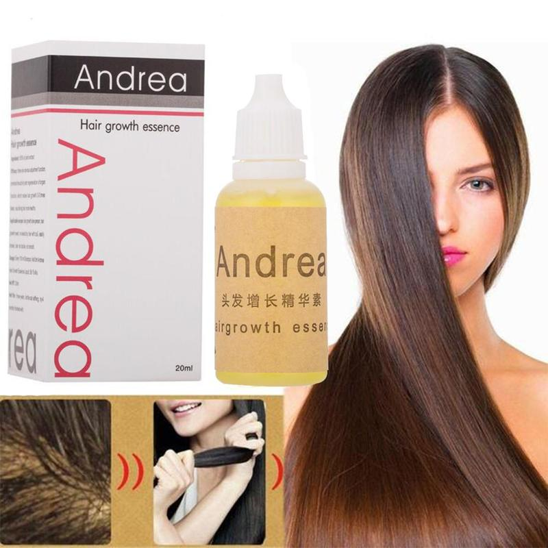 20ml Andrea Hair Growth Oil Essence Thickener for Hair Growth Serum Hair Loss Product 100% Natural Plant Extract Liquid Oil