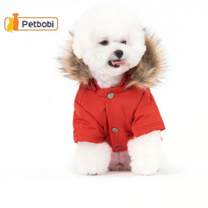 2016 Yeni Köpek Giysileri Pamuk-yastıklı Ceket Giyim Köpekler Için Pet Ceket Kaban Parkas Sıcak Köpek Kış giyim Kalın Chien Roupas