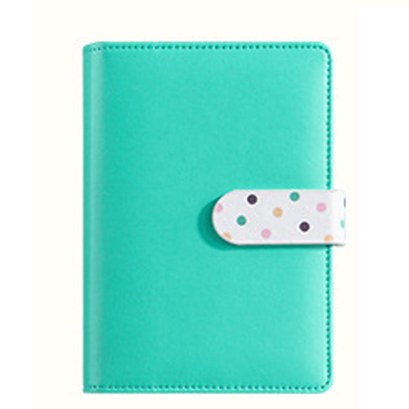 CAGIE Cute Leather Notebook Kawaii Colorful Spiral Planner