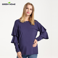 Green Home Winter New Design Fashion Comfortable European Maternity Clothes Nursing Knitwear Breastfeeding Cover For Pregnant