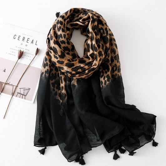 Designer scarf 2019 women autumn spring Spain style sexy long leopard print scarf muffler ladies office scarves DC510
