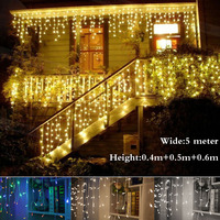 Christmas Outdoor Decoration Indoor 5m Droop 0 4 0 6m Curtain Icicle Led String Lights New