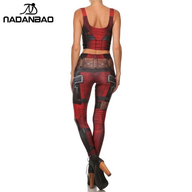 Superhero DeadPool Leggings Skinny 3D Digital Printed