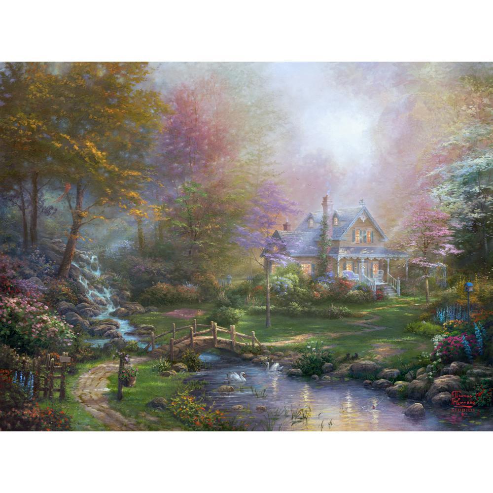 Art moderne paysage une fête des mères parfaite peint à la main toile peintures à l'huile colorées pour salon décor de haute qualité