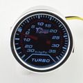2'' 52mm Universal Tinted Turbo Boost Gauge Fit For Car 0~ -30 Ing 0~35 Psi  Turbo meter White backlight Free shipping