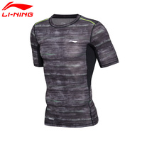 Li Ning Original Men S Training T Shirt AT DRY 88 Polyester 12 Spandex LiNing Breathable