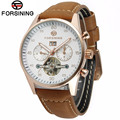 FORSINING Luxury Steel Wrist Watch Mens Day/Week Tourbillion Auto Mechanical Watches Gifts Box Free Ship