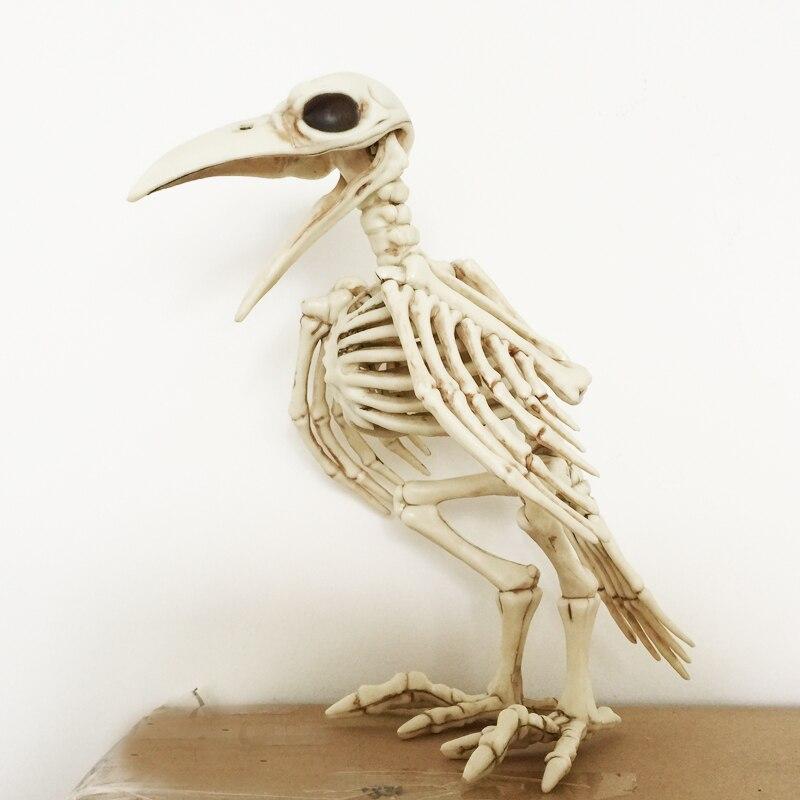 Skeleton Raven100 % Kunststoff Tier Skeleton Knochen für Horror Halloween Dekoration