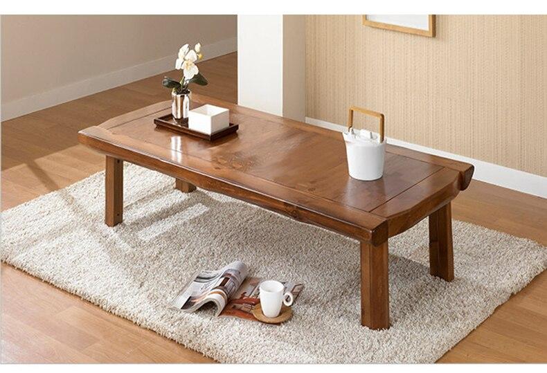 Азиатский мебель японский Стиль пол низкой складной стол 130*60 см Oriental Дизайн Гостиная старинного дерева Кофе стол деревянный