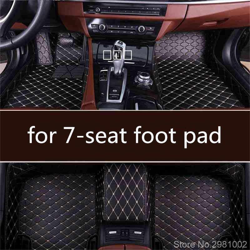 Özel 7 koltuk ayak pedi Tüm Modeller için AUDI IÇIN Q7 BMW X5 E70/F15 FORD F-150 HYUNDAI veracruz JEEP Komutanı otomatik kat mat