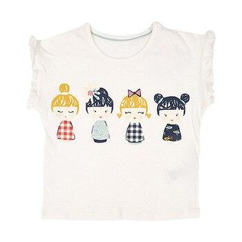 Little Maven, nueva ropa de verano para niños, sin mangas, cuello redondo, encantadoras muñecas para niñas, tejido de algodón, calidad, camiseta informal de moda para niñas