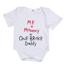 2017 Newborn Infant Baby Boys Girls Cotton Letter printing Bodysuits Cute Joli Bodysuit Clothes Outfits