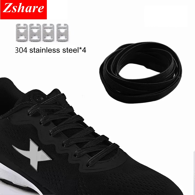 1pair No Tie Shoe Laces Elastic Rubber ShoeLaces Kids Adult Sneakers Shoelaces Flat Quick ShoeLace 16 Color 100CM lacets baskets1pair No Tie Shoe Laces Elastic Rubber ShoeLaces Kids Adult Sneakers Shoelaces Flat Quick ShoeLace 16 Color 100CM lacets baskets
