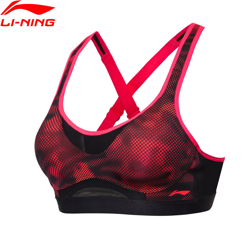 Li Ning Women Running Series Sports Bras font b Fitness b font High Support Tight Fit
