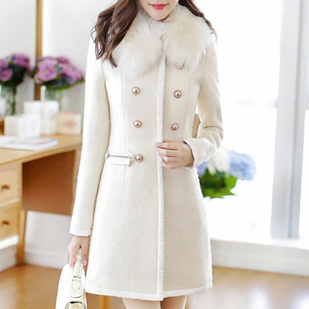 2020 Musim Dingin Wanita Mantel Wanita Jaket Hangat Lebih Tahan Dr Wol Kerah Parit Jaket Mantel Jaket Mantel Jaket untuk Wanita Feminin Mantel