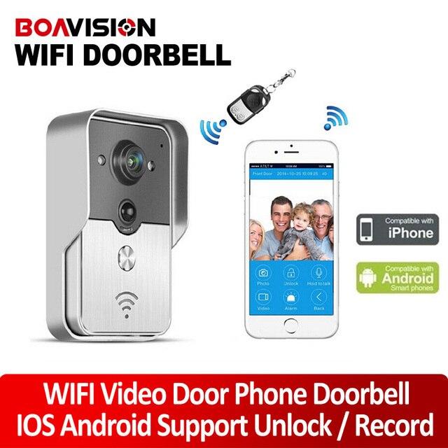 2015 Hot Sale Wifi Video Door Phone Doorbell Wireless Intercom Support IOS Android APP For Smart Phone Night Vision